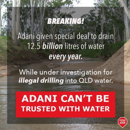 image of Demand a proper review of Adani's water scheme